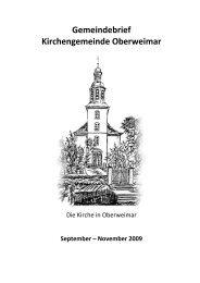 Gemeindebrief Kirchengemeinde Oberweimar