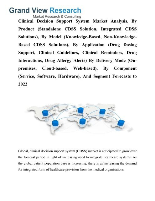 Clinical Decision Support System Market Growth, Industry Trends To