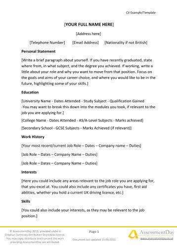 traditional 2 resume format faceboulcom - Traditional 2 Resume Template