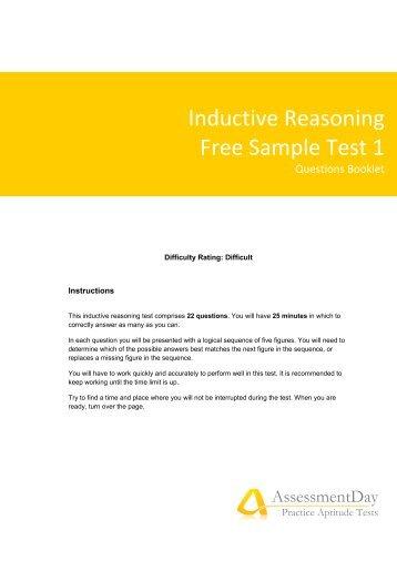 free numerical reasoning test pdf