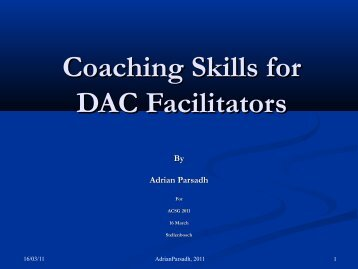 Coaching Skills for DAC Facilitators