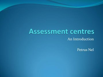 Introduction to Assessment Centres - ACSG