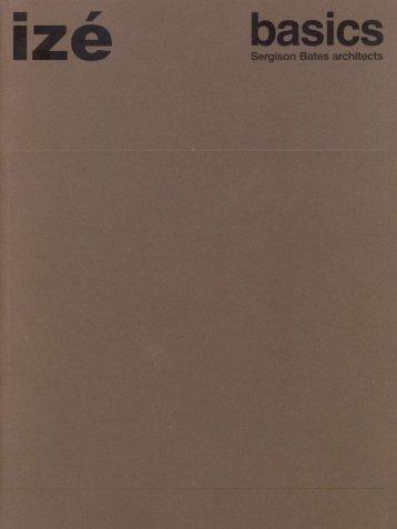 izé Sergison Bates Basics catalogue: click here to download