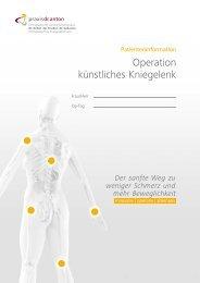 Operation künstliches Kniegelenk - Praxis Dr.  Anton