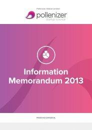 Information Memorandum 2013 - miraqle