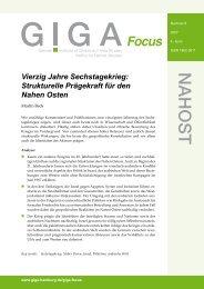 Vierzig Jahre Sechstagekrieg - GIGA German Institute of Global and ...