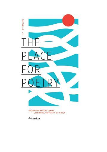 The Place for Poetry 2015-Full Programme