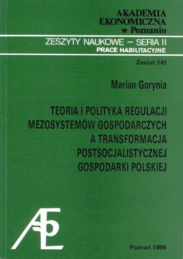 M. Gorynia - Teoria i polityka regulacji Mezosystemów.cdr