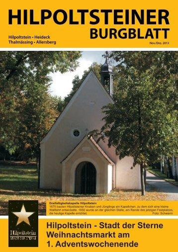 HILPOLTSTEINER Burgblatt 2013-11