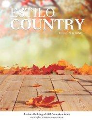 Revista ESTILO COUNTRY. Edición Otoño 2015