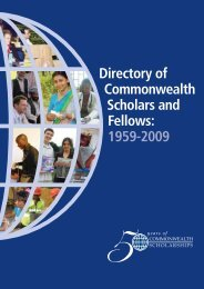 Directory of Commonwealth Scholars and Fellows: 1959-2009