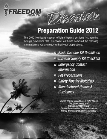 Disaster Guide - Freedom Health