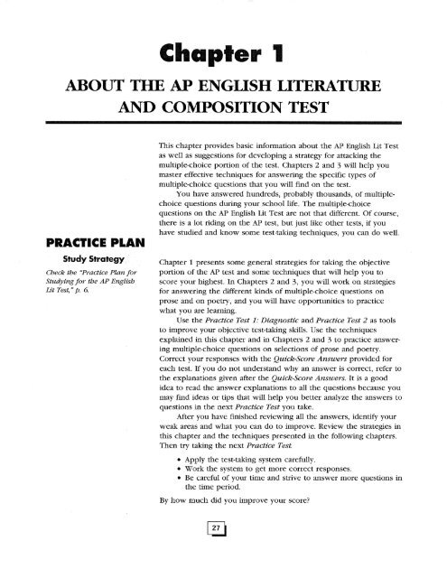 p about the ap english literature and composition test