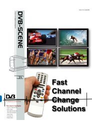 Fast Channel Change Solutions - DVB