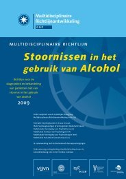Stoornissen in het gebruik van alcohol - CBO