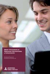 Máster Universitario en Relaciones Internacionales y Comunicación