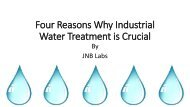 Water Treatment is Crucial