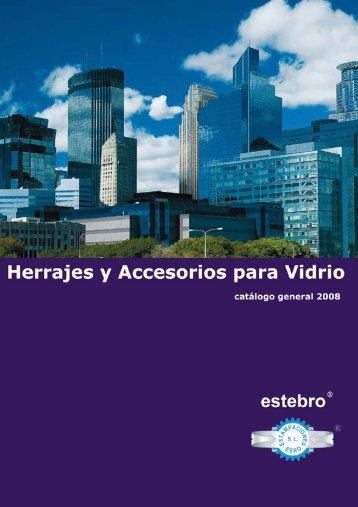 Catalogo Herrajes para vidrios Estebro - Suministros Alfindén ...