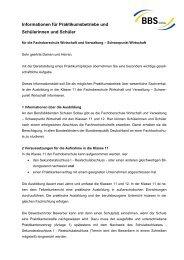 Informationen für Praktikumsbetriebe und ... - BBS Soltau