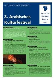 """3. Arabisches Kulturfestival - Ã""""gyptisch-Deutsche Gesellschaft Nord"""