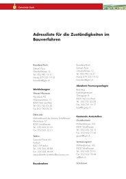 Adressliste Bauverfahren - Herzlich willkommen in der Gemeinde ...