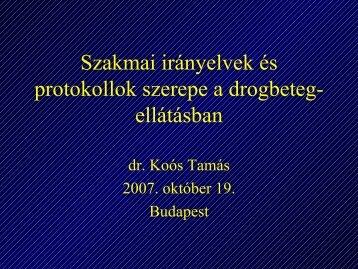 Szakmai irányelvek és protokollok szerepe a drogbetegellátásban