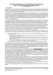 Technische Anforderungen an die Erichtung und ... - EWA Altenburg