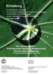 Das Lernen fördern - Universität zu Köln