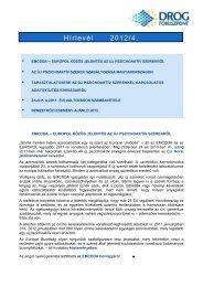 NFP Hírlevél 2012 április - Nemzeti Drog Fókuszpont