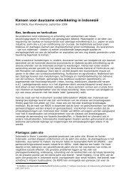 Kansen voor duurzame ontwikkeling in Indonesië Both ENDS-2