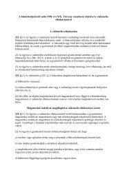 A büntetőeljárásról szóló 1998. évi XIX. Törvény vonatkozó cikkelyei ...