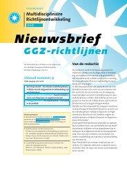 Download Nieuwsbrief nummer 9, juni 2006 - GGZ-richtlijnen