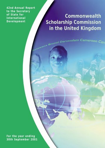 42nd Annual Report - Commonwealth Scholarship Commission in ...