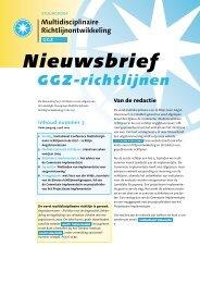 Download Nieuwsbrief nummer 3, april 2004 - GGZ-richtlijnen