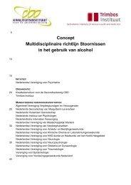 Concept Multidisciplinaire richtlijn Stoornissen in ... - GGZ-richtlijnen