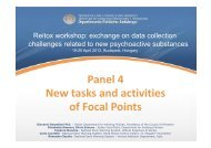 Panel 4 New tasks and activities of Focal Points