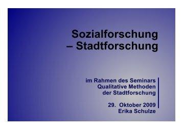 Sozialforschung – Stadtforschung