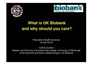 What is UK Biobank? - Centre for Population Health Sciences