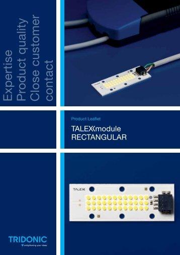 Leaflet TALEXXmodule RECTANGULAR - Tridonic