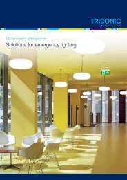 Emergency lighting Ballasts, batteries, LED light sources ... - Tridonic