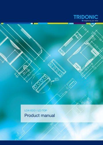 Product manual LCAI ECO / LCI TOP - Tridonic