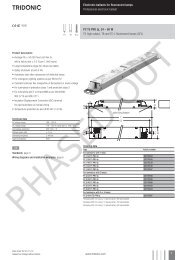 Electronic ballasts for fluorescent lamps Professional ... - Tridonic