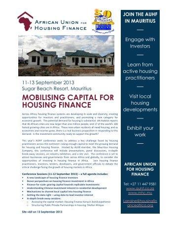 MOBILISING CAPITAL FOR HOUSING FINANCE - Mauritius ...