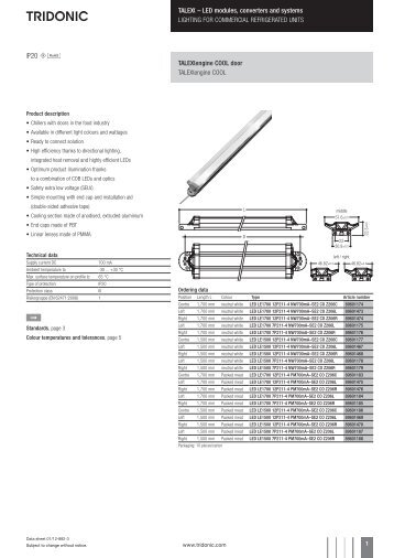 U – LED modules, converters and systems LIGHTING FOR ... - Tridonic