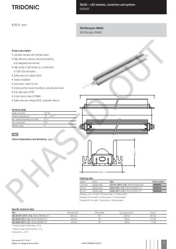 LED modules, converters and systems SIGNAGE Uengine ... - Tridonic