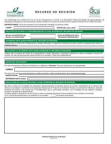 RECURSO DE REVISIÓN - Servicios