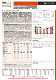 Hero MotoCorp - Q4FY12 Result update - Centrum ... - all-mail-archive