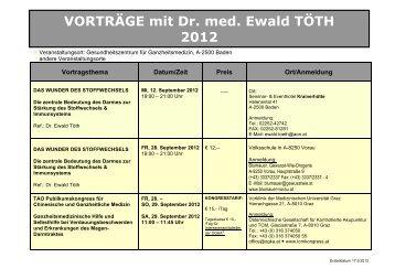 nach Dr. Ewald Töth - Wissenschaftliche Gesellschaft für ...