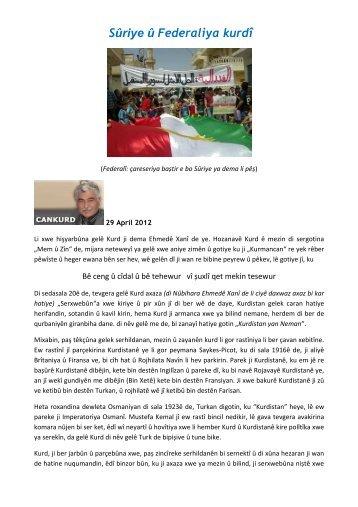 Sûriye û Federaliya kurdî - all-mail-archive