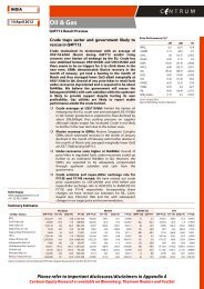 Oil and Gas - Q4FY12 Result Preview - Centrum ... - all-mail-archive